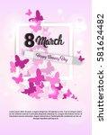 8 march international women day ... | Shutterstock .eps vector #581624482