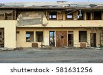 an old abandoned motel at the... | Shutterstock . vector #581631256
