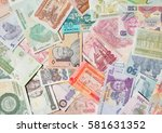 variety of the african banknotes | Shutterstock . vector #581631352