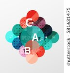 vector circle bubbles modern...   Shutterstock .eps vector #581631475
