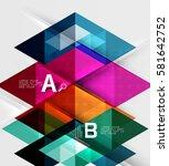 futuristic triangle tile... | Shutterstock .eps vector #581642752
