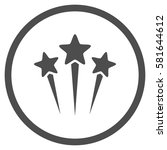 star salute rounded icon.... | Shutterstock .eps vector #581644612