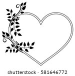 heart shaped black and white... | Shutterstock .eps vector #581646772
