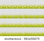 grass line seamless set with... | Shutterstock .eps vector #581650075