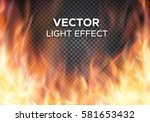 burning fire flames on... | Shutterstock .eps vector #581653432