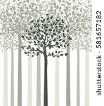 vector illustration of trees... | Shutterstock .eps vector #581657182