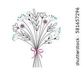 vector illustration of flower...   Shutterstock .eps vector #581657296