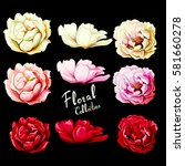 flowers. set of six different... | Shutterstock .eps vector #581660278