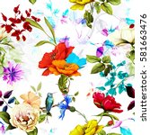 Seamless Pattern Of Wild Rose ...