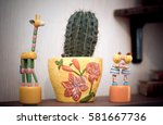 old colorful wooden toy giraffe ...   Shutterstock . vector #581667736