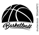 isolated basketball emblem on a ...   Shutterstock .eps vector #581669872