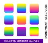 Vector Set Of Colorful Gradien...