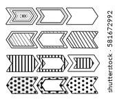 hand drawn bullet journal... | Shutterstock .eps vector #581672992