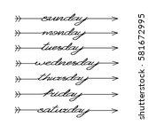 hand drawn bullet journal... | Shutterstock .eps vector #581672995