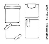 hand drawn bullet journal... | Shutterstock .eps vector #581673025