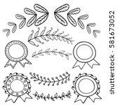 hand drawn bullet journal... | Shutterstock .eps vector #581673052