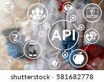 api healthcare medicine iot... | Shutterstock . vector #581682778
