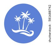 flat icon. palm trees on the... | Shutterstock .eps vector #581688742