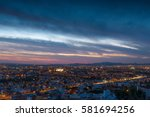 the magnificent skyline of... | Shutterstock . vector #581694256