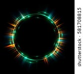 abstract neon background.... | Shutterstock . vector #581708815