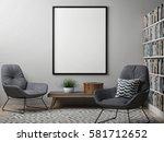 blank poster  scandinavian... | Shutterstock . vector #581712652