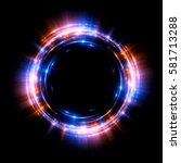 abstract neon background.... | Shutterstock . vector #581713288