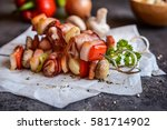 Grilled Skewers With Rabbit...
