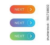 next web button set   Shutterstock .eps vector #581718832