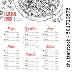 hand drawn vector illustration  ... | Shutterstock .eps vector #581720575