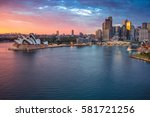 sydney. cityscape image of... | Shutterstock . vector #581721256
