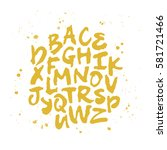 vector alphabet. hand drawn... | Shutterstock .eps vector #581721466