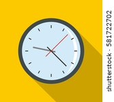 round analog clock face icon.... | Shutterstock .eps vector #581722702