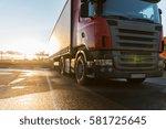 transportation  freight... | Shutterstock . vector #581725645