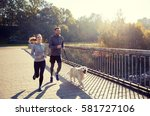 fitness  sport  people and... | Shutterstock . vector #581727106