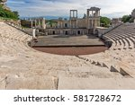 remainings of ancient roman... | Shutterstock . vector #581728672