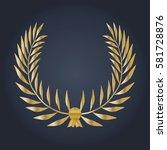 vector gold winner olive tree... | Shutterstock .eps vector #581728876
