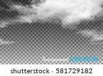 transparent clouds. vector.  | Shutterstock .eps vector #581729182