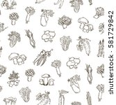 seamless pattern    hand drawn... | Shutterstock .eps vector #581729842