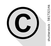 copyright sign illustration.... | Shutterstock .eps vector #581732146