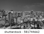 black and white  office... | Shutterstock . vector #581744662