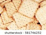 biscuit sweet cookie craker... | Shutterstock . vector #581746252