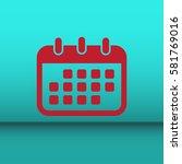 calendar isolated flat web...