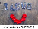 "words ""i love you "" on the old... 