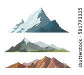 mountain mature silhouette... | Shutterstock .eps vector #581793325