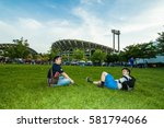 thailand vs vietnam fifa world... | Shutterstock . vector #581794066