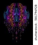 vector illustration isolated on ... | Shutterstock .eps vector #581796928