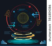interface science fiction... | Shutterstock .eps vector #581804386
