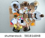 business people sitting and... | Shutterstock . vector #581816848
