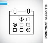 calendar icon vector .