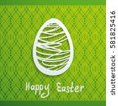 bright green easter greeting...   Shutterstock .eps vector #581825416